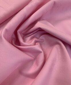 Розовый коттон жаккард
