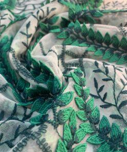 Сетка Хлоя с растительным орнаментом узором