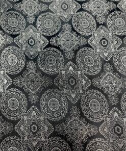 Подкладочная ткань черная с узором