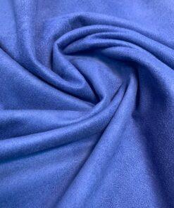 Замша трикотаж синяя